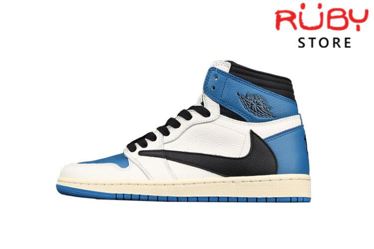 Giày Jordan 1 High x Fragment x Travis Scott Cổ Cao